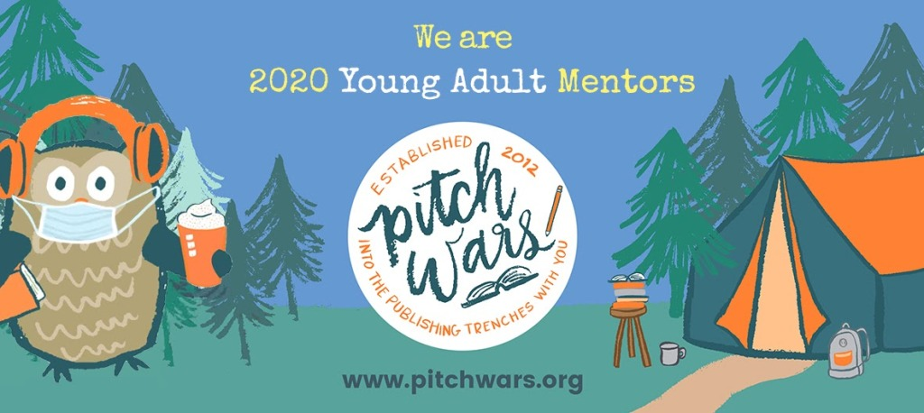 Banner saying 'we are 2020 young adult mentors' with a background of Poe wearing a mask.